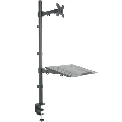 Dual Height Adjustable Free Standing Monitor Mount
