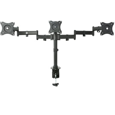 Triple Height Adjustable 3 Screens Articulating Stand Monitor Mount