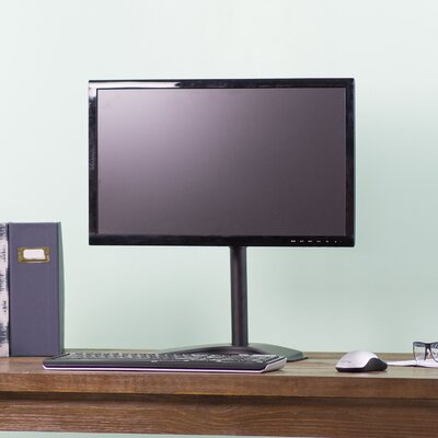 Single LCD Computer Monitor Height Adjustable Tilt Desk Stand