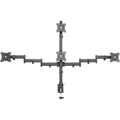 Quad Monitor Heavy Duty Heigh Adjustable 4 Screen Pole Mount