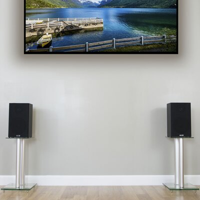 Premium Universal Floor for Surround Sound and Book Shelf Fixed Height Speaker Stand