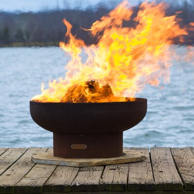 Fire Pit Art Low Boy Fire Pit - Fuel Type: Wood Burning, Ignition: Wood Burning