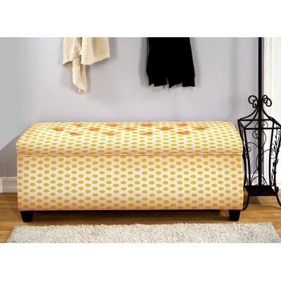 Upholstered Storage Bedroom Bench Color: Jojo Yellow, Size: Small