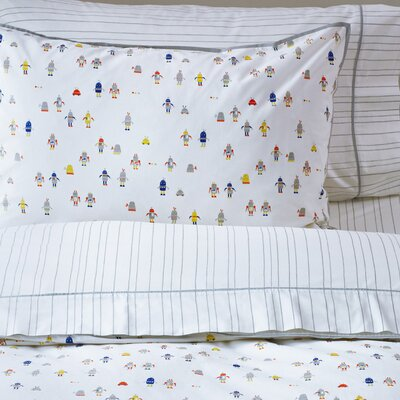Robot March 200 Thread Count 100% Cotton Flat Sheet