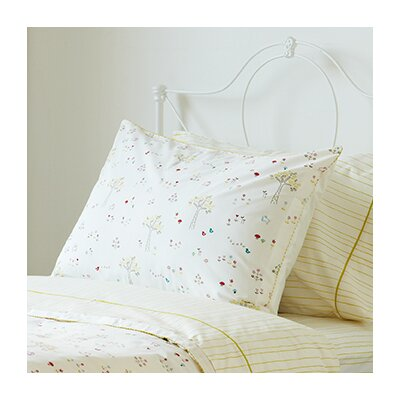 Rabbit Patch Painted Stripe Fern Standard Pillowcase