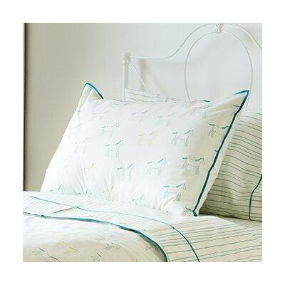 Felix Painted Stripe Blue Standard Pillowcase