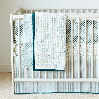 Painted Stripe Crib Skirt