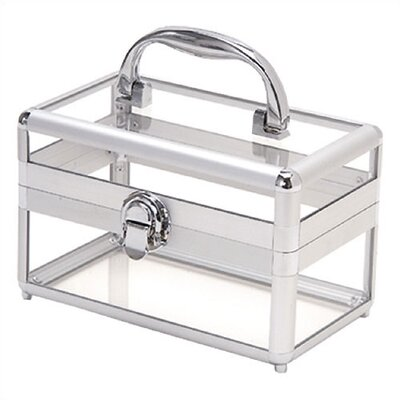 "TZ Case Silver Framed Acrylic Beauty Case - Size: 4 3/4"" H x 7 3/4"" W x 7 1/2"" D at Sears.com"