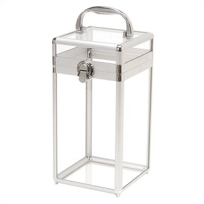 "TZ Case Silver Framed Acrylic Beauty Case - Size: 11 1/4"" H x 5 3/4"" W x 5 3/4"" D at Sears.com"