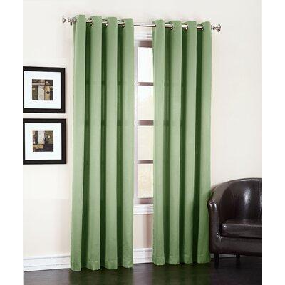 Sun Zero Groton Single Curtain Panel - Color: Sage Green Size: 84