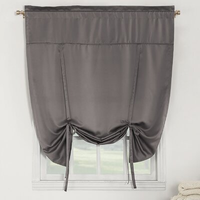 Groton Room Darkening Tie-Up Shade Color: Gray