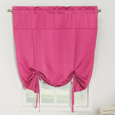 Groton Room Darkening Tie-Up Shade Color: Pink