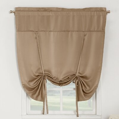 Groton Room Darkening Tie-Up Shade Color: Taupe