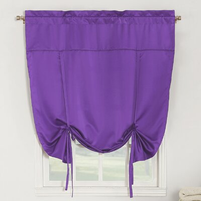 Groton Room Darkening Tie-Up Shade Color: Purple