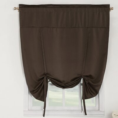 Groton Room Darkening Tie-Up Shade Color: Chocolate