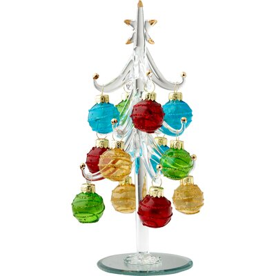 Glass Christmas Tree with Ornaments THLA3260 39866645