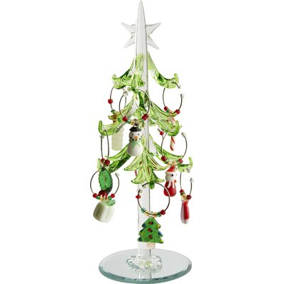 Glass Christmas Tree with Wine Markers Ornaments THLA3258 39866643