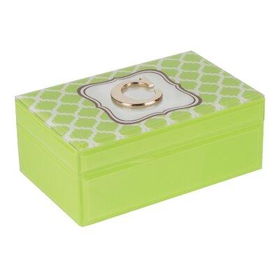 Trellis Jewelry Box Monogrammmed: C