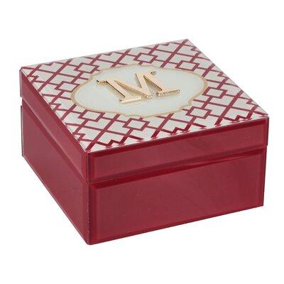 Monogram Trellis Jewelry Box Monogrammed: M