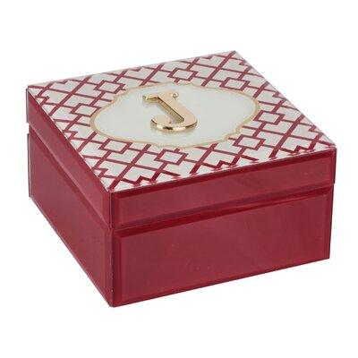 Monogram Trellis Jewelry Box Monogrammed: J