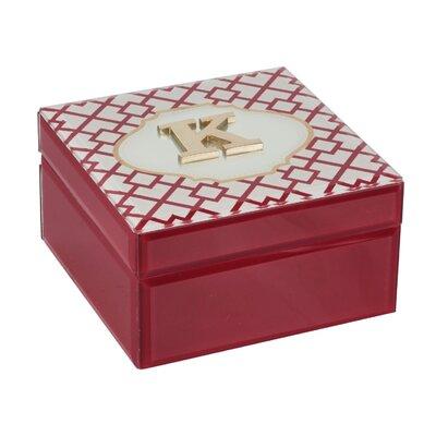 Monogram Trellis Jewelry Box Monogrammed: K