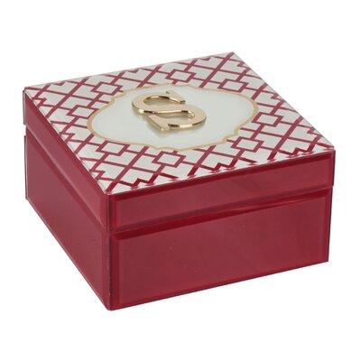 Monogram Trellis Jewelry Box Monogrammed: S