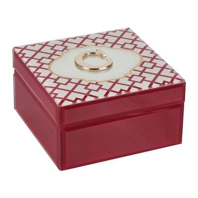 Monogram Trellis Jewelry Box Monogrammed: C