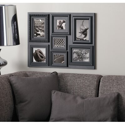 Fuse 7 Piece Picture Frame Set Color: Black