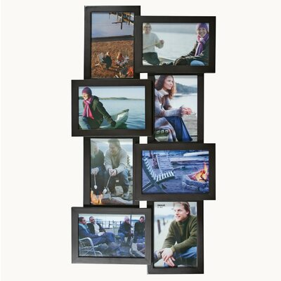 Array 8 Piece Picture Frame Set Color: Black