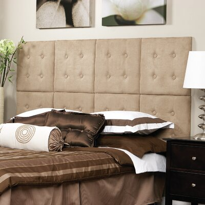 Luxe Upholstered Panel Headboard Upholstery: Microsuede Taupe