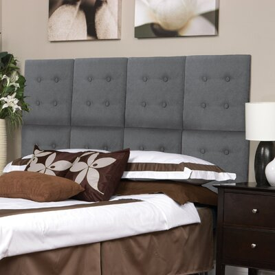 Luxe Panel Upholstered Headboard Upholstery: Gray