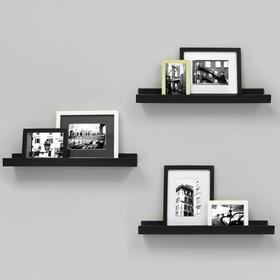 Edge Picture Frame Ledge Color: Black FN00298-3INT
