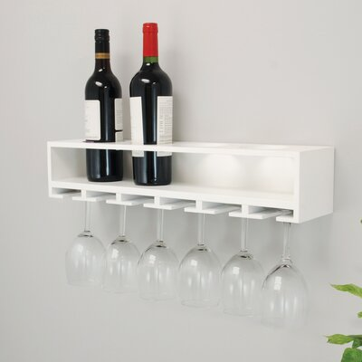 Claret Wall Mounted Wine Bottle Rack