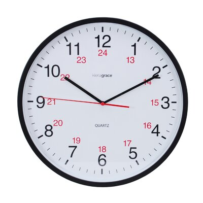 "Kiera Grace 12"" Synchro Silent Wall Clock HO87504-4MC"