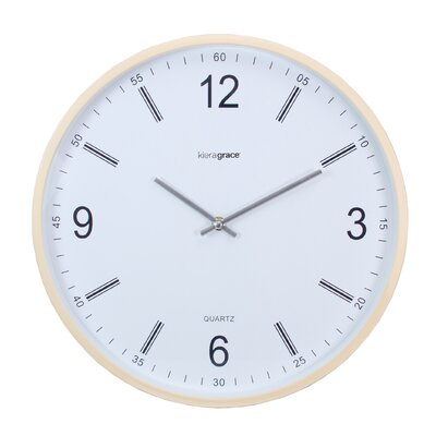 "Kiera Grace 14"" Neo Wall Clock with Convex Glass Lens HO87508-2MC"