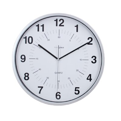 "Kiera Grace 12"" Synchro Silent Wall Clock HO85113-0MC"