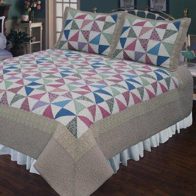 Playful Pinwheel Quilt Size: King