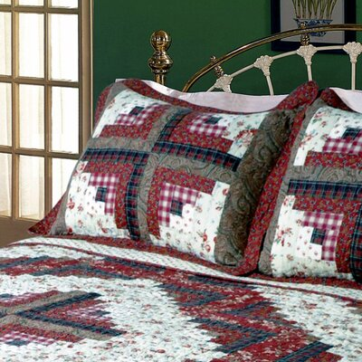 Ruby Log Cabin Sham