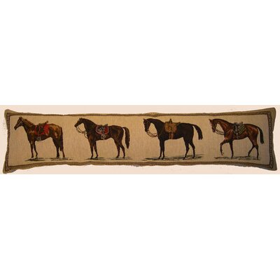 Tapestry Draft Horses Lumbar Pillow