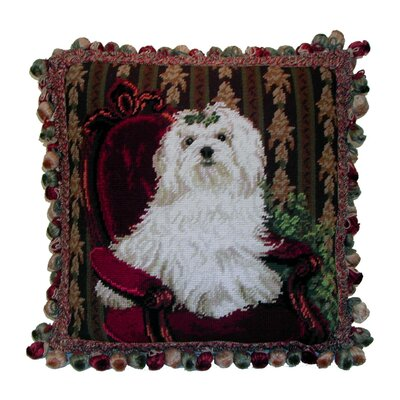 Maltese Wool Throw Pillow