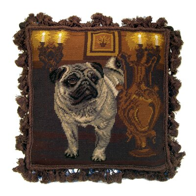 Pug Wool Throw Pillow