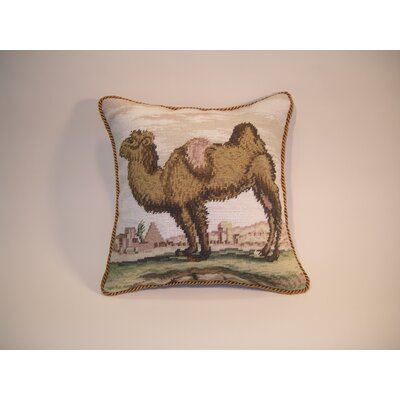 Camel Wool Throw Pillow