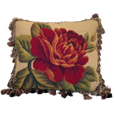Fringe Bloom Wool Lumbar Pillow