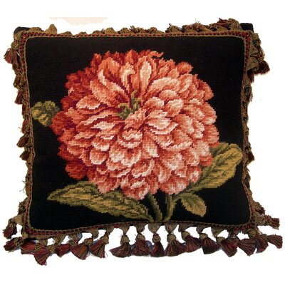 Flower Wool Throw Pillow