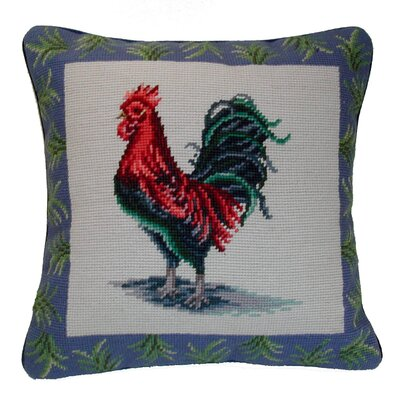 Rooster Wool Throw Pillow