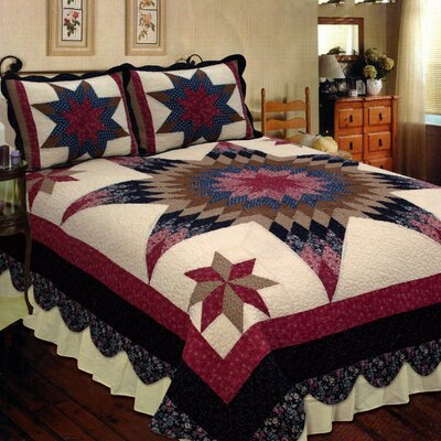 Prairie Star Quilt Size: Super King