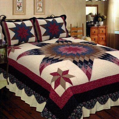 Prairie Star Quilt Size: Full/Queen