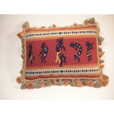Fringe Kokopeli Wool Throw Pillow