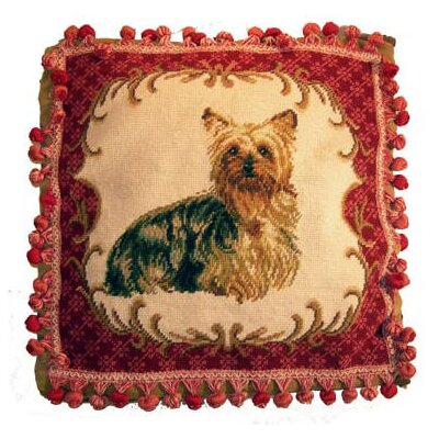 Fringe Yorkie Wool Throw Pillow