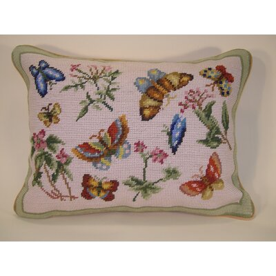Butterflies Wool Breakfast Pillow